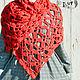 Шарфы и шарфики ручной работы. Ярмарка Мастеров - ручная работа. Купить Красный вязаный шарф «Жар-птица». Handmade.