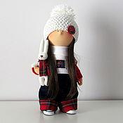 Куклы и игрушки ручной работы. Ярмарка Мастеров - ручная работа Кукла интерьерная. Интерьерная кукла. Девочка с белым зайчиком.. Handmade.