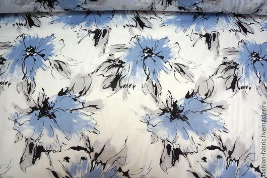 Шитье ручной работы. Ярмарка Мастеров - ручная работа. Купить Ткань Батист с принтом цветы 8021603 Цена за метр. Handmade.