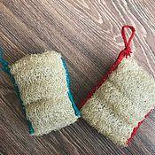 Мочалки ручной работы. Ярмарка Мастеров - ручная работа Мочалка из люфы натуральная. Handmade.