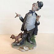 Винтаж handmade. Livemaster - original item Copyright Bouncer figurine Capodimonte G. Cappe. Handmade.