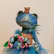Куклы и пупсы ручной работы. Ярмарка Мастеров - ручная работа Голубая лягушка балерина. Текстильная кукла.. Handmade.