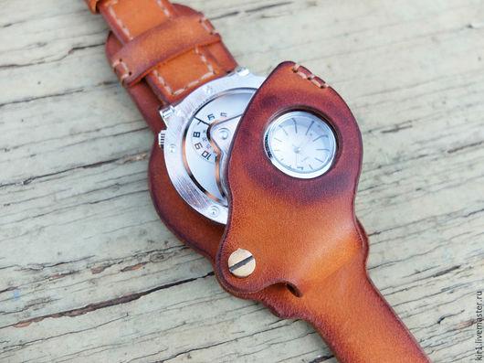 """Часы ручной работы. Ярмарка Мастеров - ручная работа. Купить """"Часы стимпанкера"""". Handmade. Часы наручные, стимпанк украшения"""