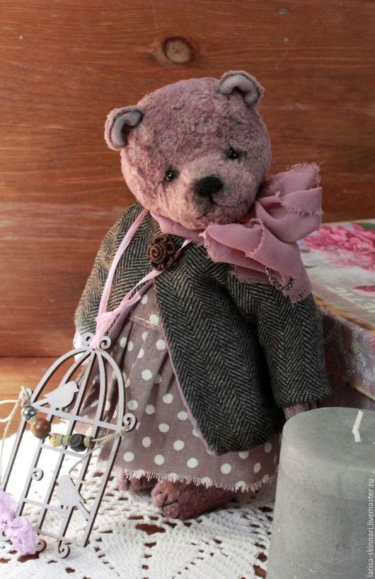Мишки Тедди ручной работы. Ярмарка Мастеров - ручная работа. Купить Фиолетовые сны Виолетты.. Handmade. Бледно-сиреневый