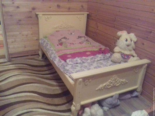 Мебель ручной работы. Ярмарка Мастеров - ручная работа. Купить Кровать. Handmade. Белый, массив бука