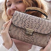 Сумки и аксессуары handmade. Livemaster - original item Clutch bag made from leather and wood Mottled Dragon. Handmade.