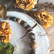 """Украшения ручной работы. Ярмарка Мастеров - ручная работа Колье """"Сухие травы"""". Handmade."""