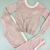 Одежда ручной работы. Ярмарка Мастеров - ручная работа Костюм трансформер с ангорой Розовый. Handmade.