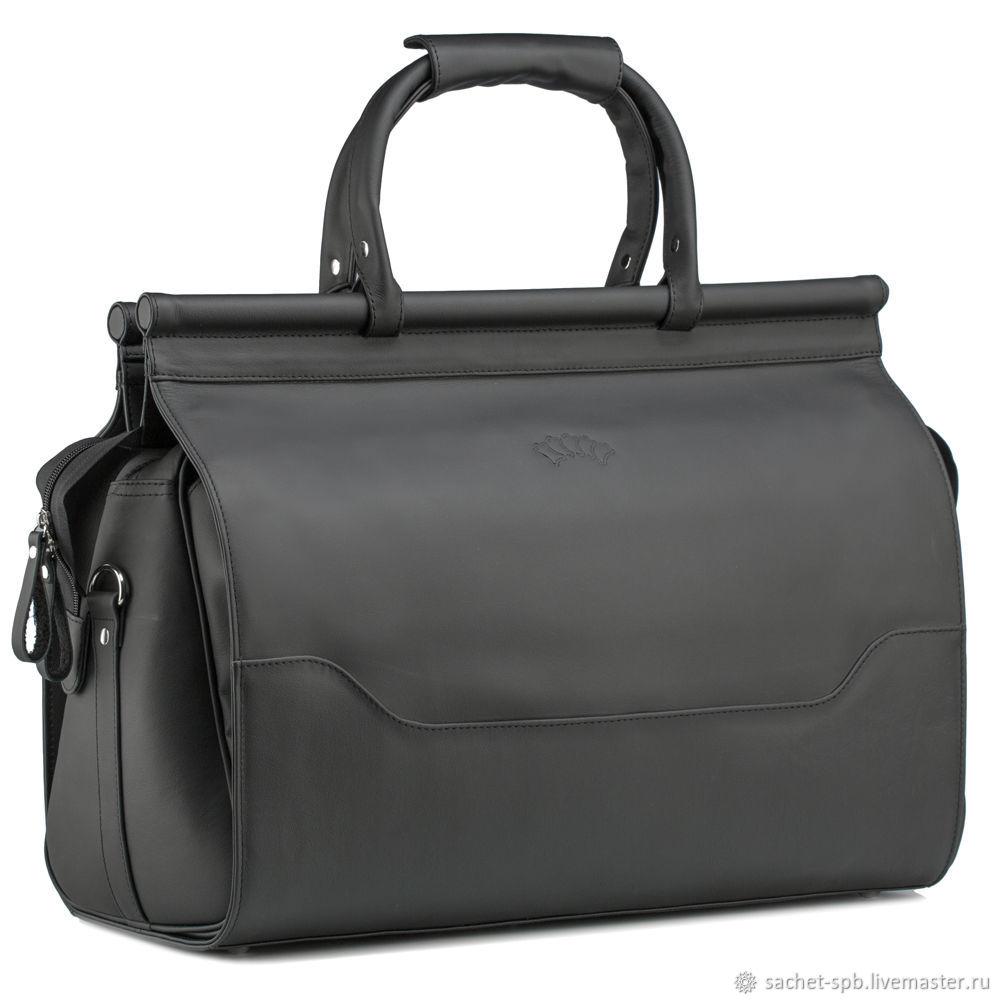 Leather travel bag 'Harry' (black), Valise, St. Petersburg,  Фото №1