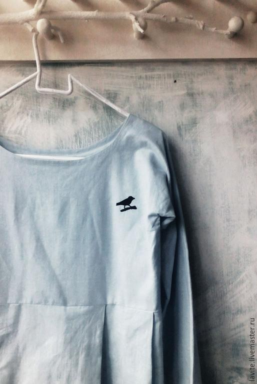 """Платья ручной работы. Ярмарка Мастеров - ручная работа. Купить платье """"птица"""". Handmade. Голубой, платье, бохо-шик"""