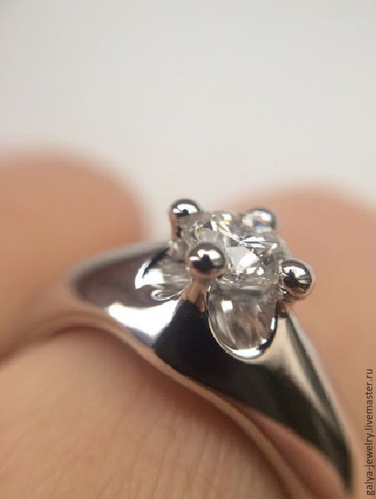Кольца ручной работы. Ярмарка Мастеров - ручная работа. Купить Кольцо в виде короны с бриллиантом, 0,52 карата. Handmade.