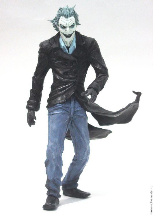 Человечки ручной работы. Ярмарка Мастеров - ручная работа. Купить джокер из бэтмена. Handmade. Темно-серый, фигурка, комиксы