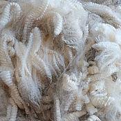 Материалы для творчества handmade. Livemaster - original item Crossbred white/ Wool for felting/ spinning/. Handmade.