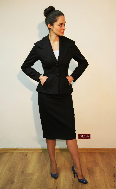 Костюм черный женский деловой цена
