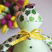Куклы и игрушки ручной работы. Ярмарка Мастеров - ручная работа Лягушонок в стиле тильда. Handmade.