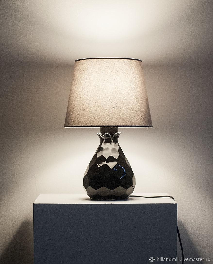 Освещение ручной работы. Ярмарка Мастеров - ручная работа. Купить Прикроватный светильник 'Astra Black'. Handmade. 8 марта, ночник