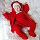 """Одежда ручной работы. Красный костюм """"Маленький чемпион"""". Mария Green Eyes & сompany. Интернет-магазин Ярмарка Мастеров."""