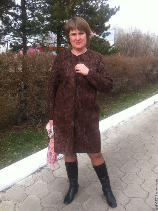 Верхняя одежда ручной работы. Ярмарка Мастеров - ручная работа. Купить Пальто валяное. Handmade. Абстрактный, валяное пальто