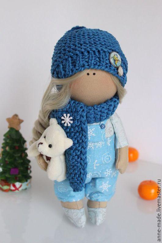 Человечки ручной работы. Ярмарка Мастеров - ручная работа. Купить Текстильная кукла-малышка Снежинка. Handmade. Текстильная кукла