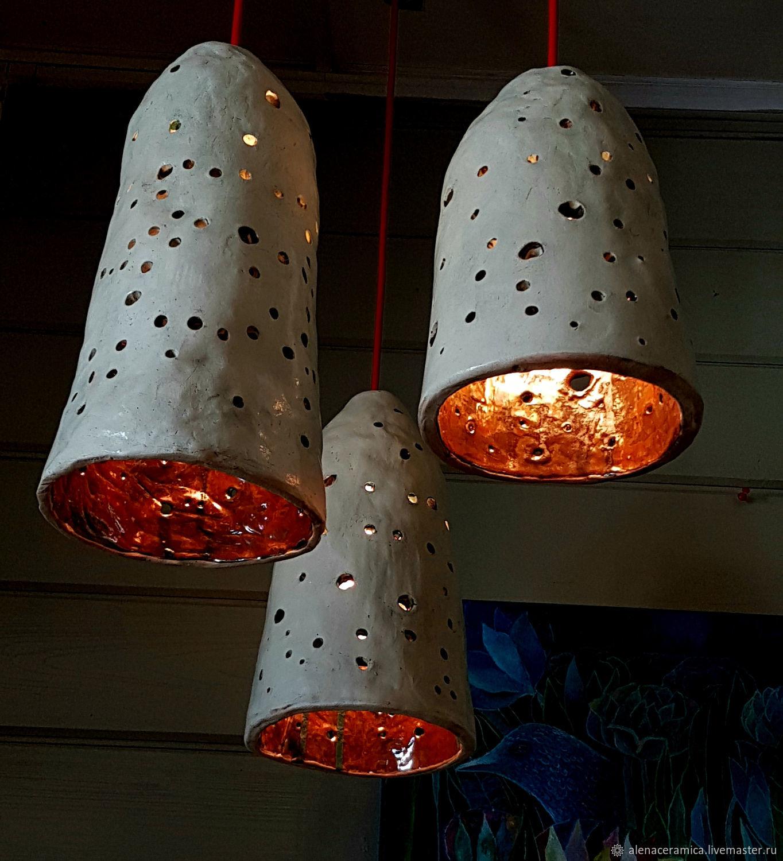 Комплект из 3-х керамических светильников, Потолочные и подвесные светильники, Можайск,  Фото №1