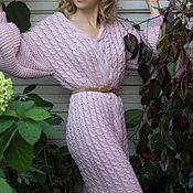 Одежда ручной работы. Ярмарка Мастеров - ручная работа Платье вязаное из мериносовой пряжи. Handmade.
