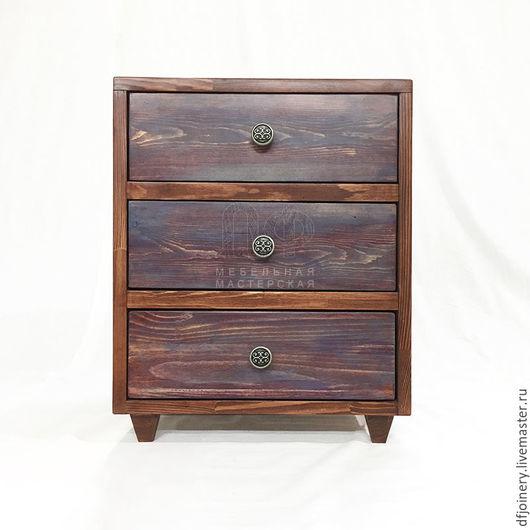 Мебель ручной работы. Ярмарка Мастеров - ручная работа. Купить Тумба прикроватная из дерева «Эко». Handmade. Прикроватный столик, береза