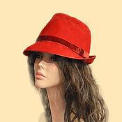 """Аксессуары handmade. Livemaster - original item Федора """" Red"""". Handmade."""