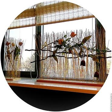 Дизайн и реклама ручной работы. Ярмарка Мастеров - ручная работа Флористика.Весна.Оформление окна Сквозь чащу лесную. Handmade.