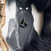 Фен-шуй и эзотерика handmade. Livemaster - original item Spirit assistant (fEtch) Cat black agate. Handmade.