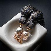 Украшения ручной работы. Ярмарка Мастеров - ручная работа серьги-кисти с жемчугом касуми. Handmade.