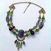 Украшения handmade. Livemaster - original item Necklace beads multi-row natural stones Gardens of Babylon. Handmade.