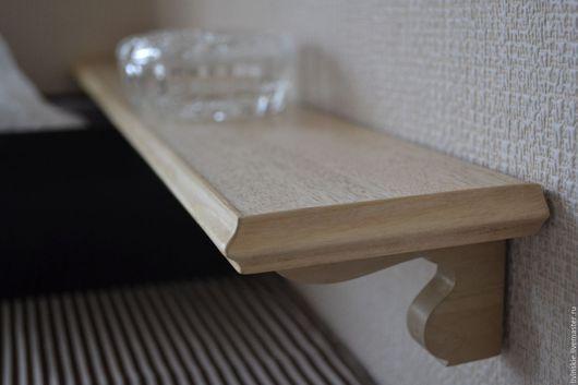 Мебель ручной работы. Ярмарка Мастеров - ручная работа. Купить Навесная полочка из дерева граб. Handmade. Коричневый, навесная полочка
