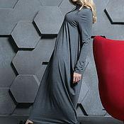 Одежда ручной работы. Ярмарка Мастеров - ручная работа Платье трикотажное Assymetric grey. Handmade.