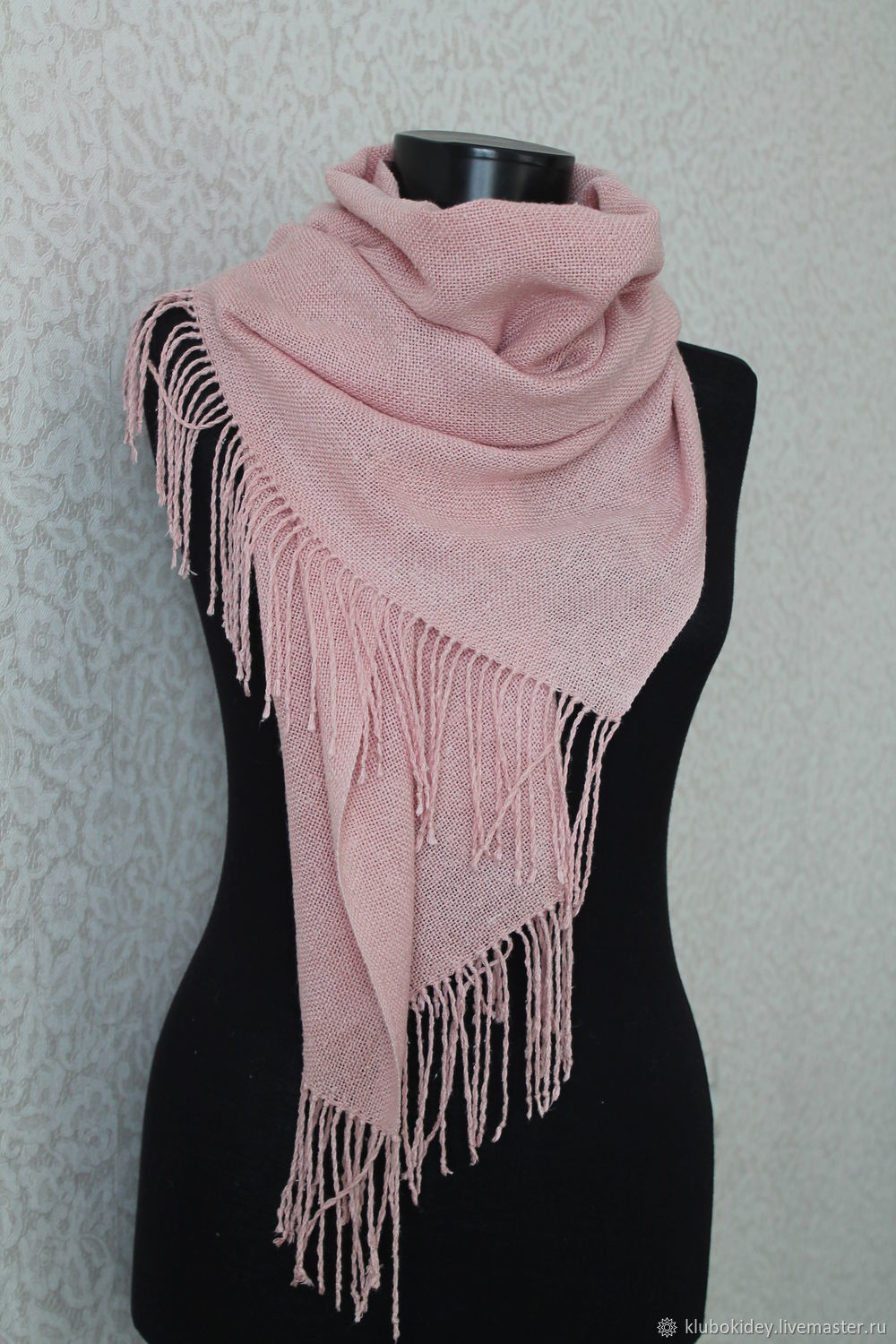 Scarf tippet powder Pink silk woven sensitive or unbalanced, Scarves, Cherepovets,  Фото №1
