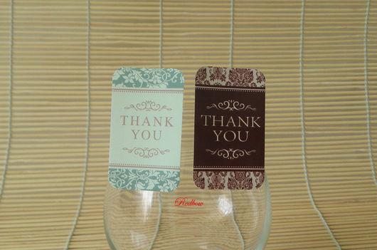 """Упаковка ручной работы. Ярмарка Мастеров - ручная работа. Купить Наклейки """"Thank you"""", 8шт Н39. Handmade. Наклейка, стикер"""