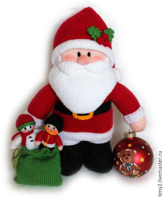 Новый год 2017 ручной работы. Ярмарка Мастеров - ручная работа. Купить Дед Мороз с мешком подарков, 32 см. Handmade.