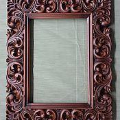 Для дома и интерьера handmade. Livemaster - original item Wooden carved frame for pictures.. Handmade.
