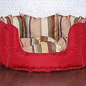 Для домашних животных, ручной работы. Ярмарка Мастеров - ручная работа Лежанка красная для кошки Боннифаций 50х50х20см. Handmade.