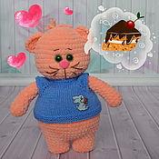 Куклы и игрушки ручной работы. Ярмарка Мастеров - ручная работа Кот вязаный Абрикосик. Handmade.