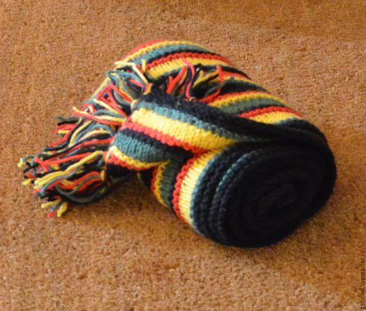 Шарфы и шарфики ручной работы. Ярмарка Мастеров - ручная работа. Купить шарф вязаный Раста. Handmade. Шарф, шарф шерстяной