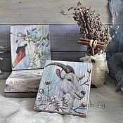 Подарки к праздникам handmade. Livemaster - original item Board decorative stand under the mug gift for March 8. Handmade.