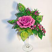 Цветы и флористика ручной работы. Ярмарка Мастеров - ручная работа Роза в бокале. Handmade.