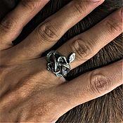 Кольца ручной работы. Ярмарка Мастеров - ручная работа Змея кольцо. Handmade.