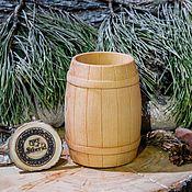 Посуда handmade. Livemaster - original item A glass Barrel, wooden, tea kvass, fruit drinks are made of Siberian pine#C14. Handmade.