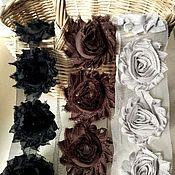 Материалы для творчества ручной работы. Ярмарка Мастеров - ручная работа Трехмерные розы Шебби Шик 6 см  № 23-25. Handmade.