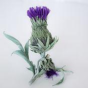 Украшения handmade. Livemaster - original item Thistle silk. Brooch.. Handmade.