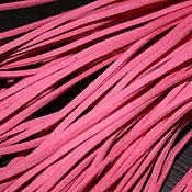 Материалы для творчества handmade. Livemaster - original item Artificial suede cord pink, 3h1 mm (1 meter). Handmade.