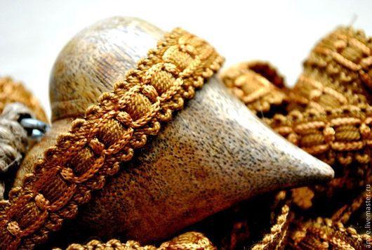 """Шитье ручной работы. Ярмарка Мастеров - ручная работа. Купить Тесьма """"Старый коричневый""""  Коллекция """"Будуар""""  (Италия). Handmade. Лента"""
