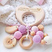Куклы и игрушки handmade. Livemaster - original item Teething toy-teether, rattle