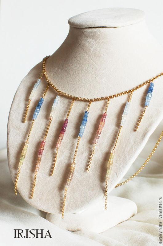 """Колье, бусы ручной работы. Ярмарка Мастеров - ручная работа. Купить Ожерелье """"Мелодия цвета"""". Handmade. Авторское украшение, розовый"""